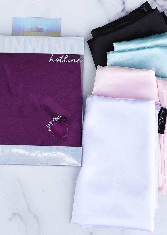 Hotline Hair Ties Satin Pillowcase