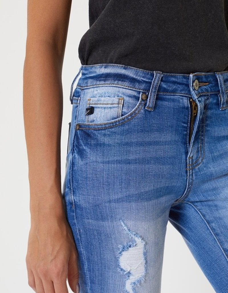 509 Broadway Distressed Mid Rise Ankle Skinny