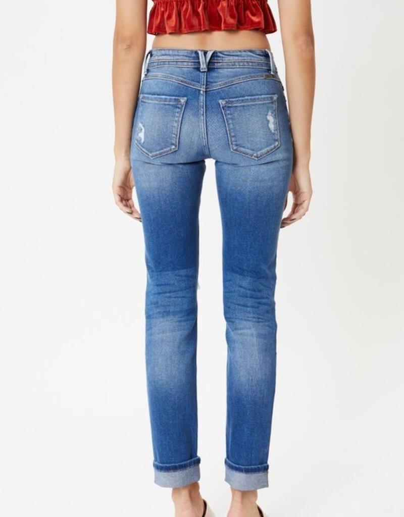 509 Broadway |Karlie| Mid Rise Straight Jean