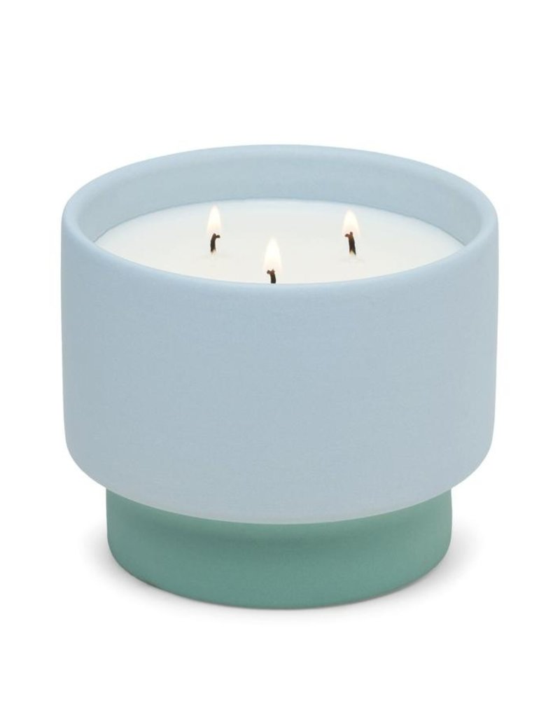 Paddywax Color Block-Saltwater Suede Ceramic 16oz