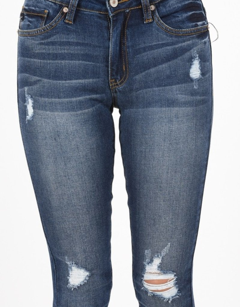 KanCan Jessie Mid Rise Distressed Skinny Jean