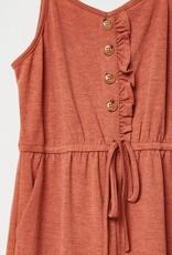 509 Broadway Girls Ruffle Knit Jumpsuit