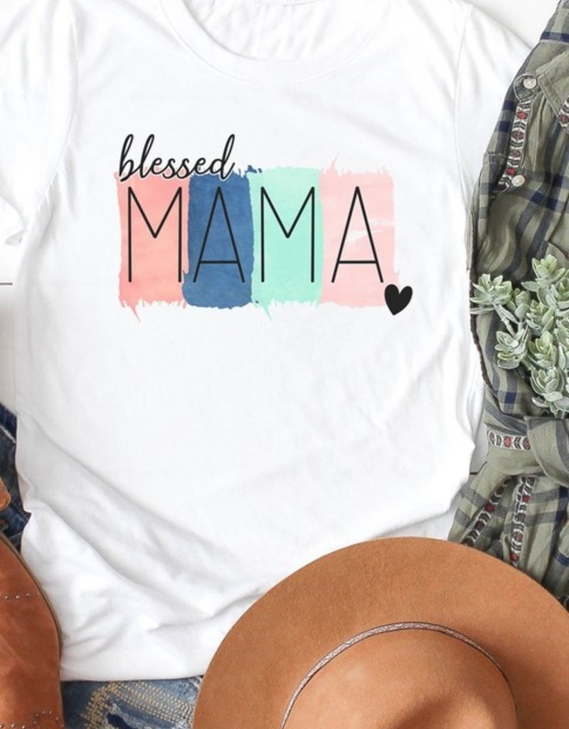 509 Broadway Blessed Mama Color Block Tee