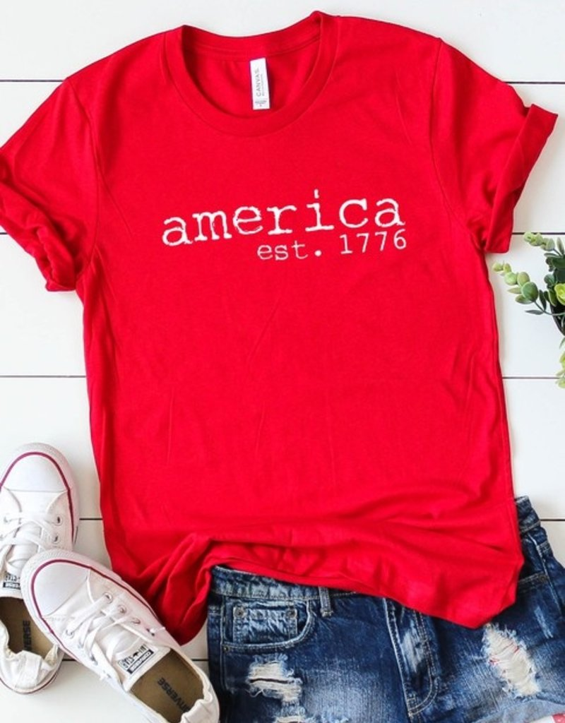 509 Broadway America Est . 1776 Graphic Tee