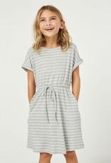 509 Broadway Girls Ribbed Stripe T-Shirt Dress