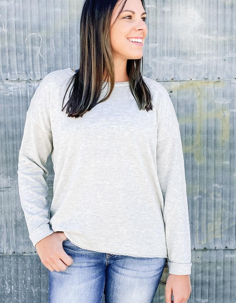 509 Broadway Round Neck Light Sweater