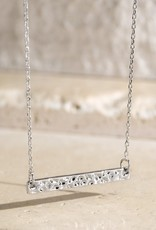 509 Broadway Dazzling Hammered Bar Necklace