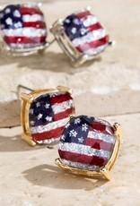 509 Broadway American Flag Stud Earring