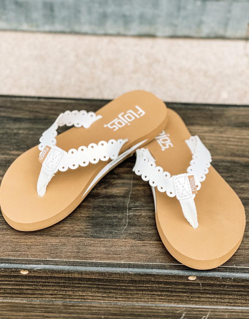 509 Broadway Della Scalloped Sandal