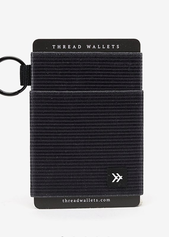 Thread Wallets |Black| Elastic Wallet