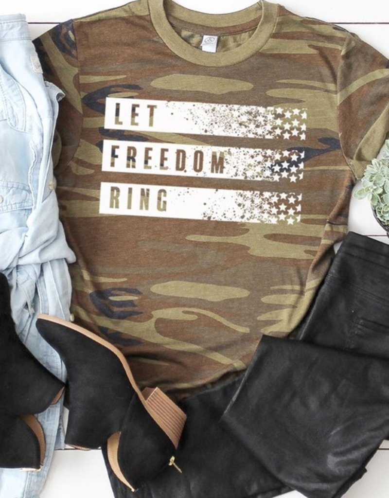 509 Broadway Let Freedom Ring Camo Tee