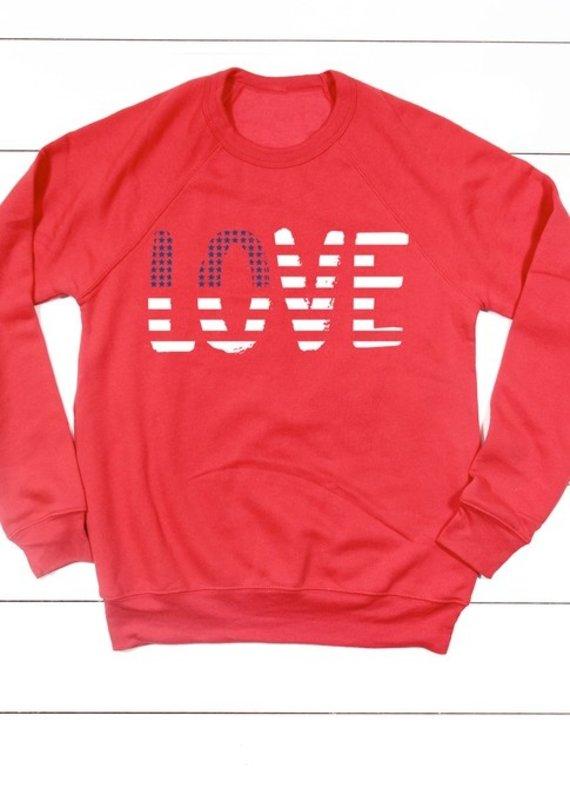 509 Broadway Stars and Stripes Love Sweatshirt