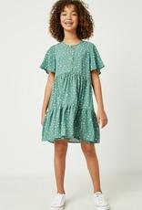 509 Broadway Girls Polka Dot Button Midi Dress