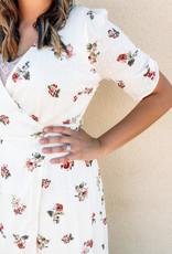 509 Broadway Wrap Cinch Sleeve Maxi Dress