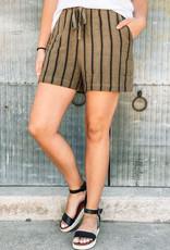509 Broadway Linen Stripe Short