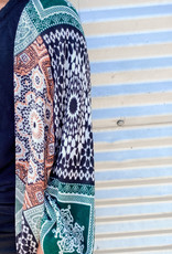509 Broadway Moroccan Tile Print Kimono