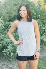509 Broadway Racerback Tank Top with Stripes