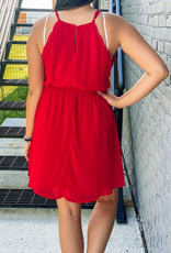 509 Broadway Sleeveless Solid Woven Dress