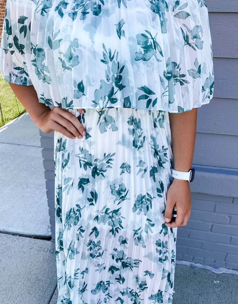 509 Broadway Off The Shoulder Crinkle Maxi Dress