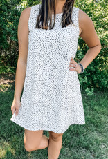 509 Broadway Sleeveless Dot Print Mini Dress