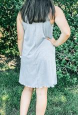 509 Broadway Mock Neck Basic Mini Dress