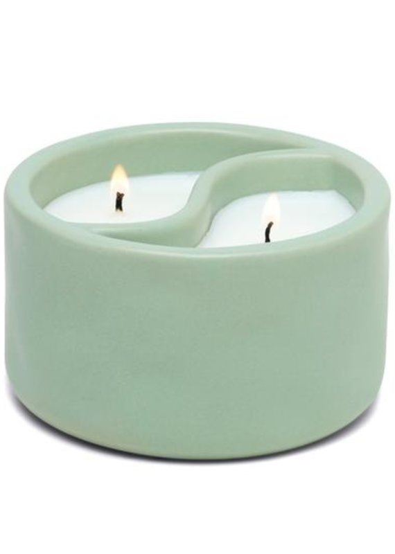 Paddywax Yin-Yang Ceramic Green Tea + Aloe 11oz