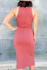 509 Broadway Rib Knit Midi Dress