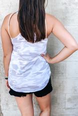 509 Broadway Sleeveless Camo Knit Tank