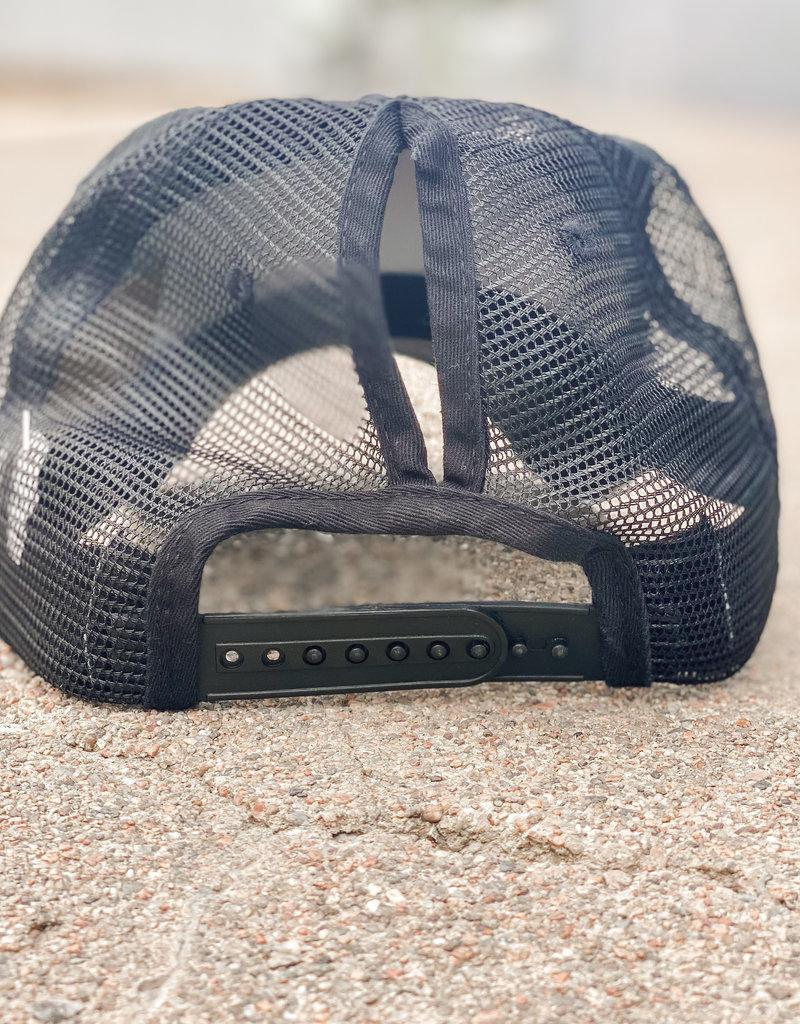509 Broadway Leopard Messy Bun Hat