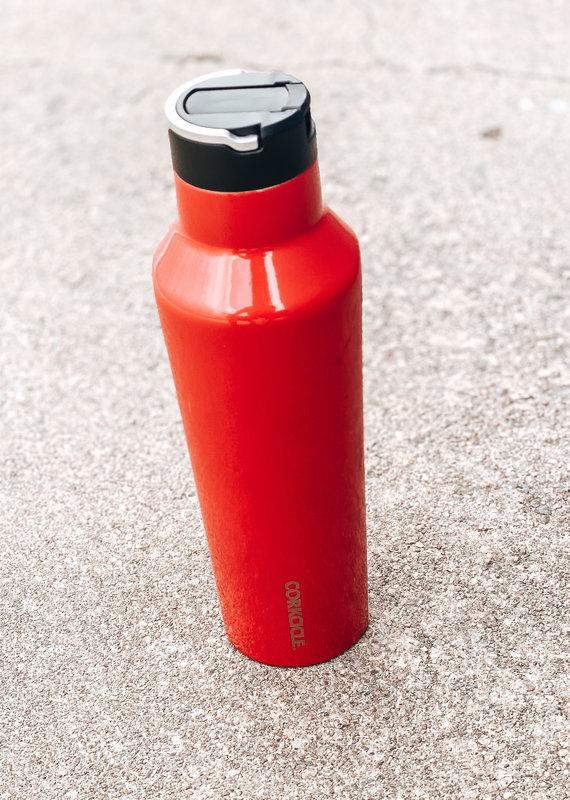 Corkcicle 20oz Sport Canteen Gloss Cardinal