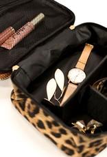509 Broadway Leopard Make Up Bag