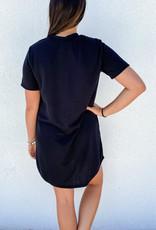 509 Broadway Casual Solid T-Shirt Dress