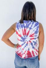 509 Broadway American Tie Dye Tank Top