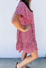 509 Broadway Polka Dot Babydoll Bell Sleeve Dress