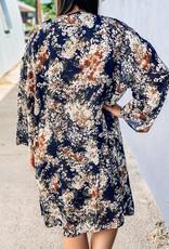 509 Broadway Midi Floral Pocket Cardigan