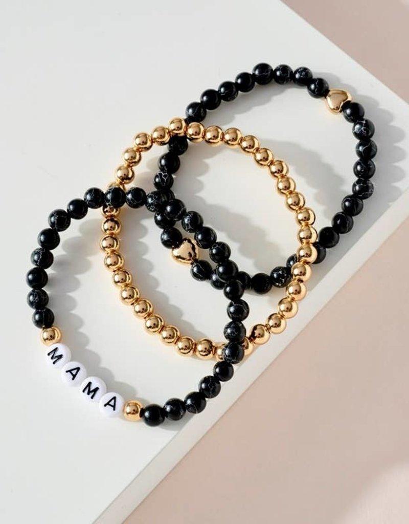 509 Broadway 3 Set of Stone MAMA Bracelets