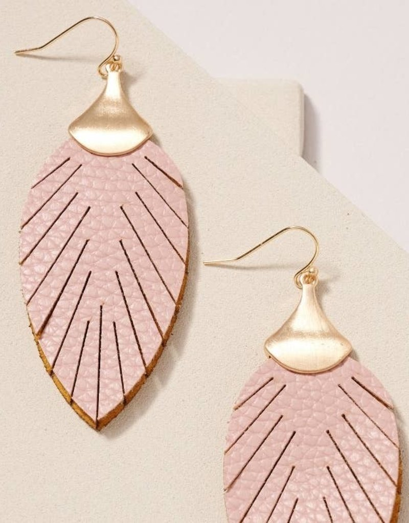 509 Broadway Leaf Double Layered Dangling Earrings