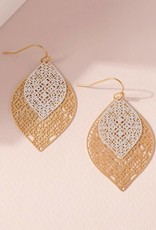 509 Broadway Leaf Shape Layered Earrings