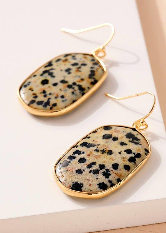 509 Broadway Natural Stones Dangling Earrings