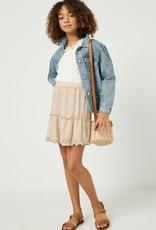 509 Broadway Girls Heart Print Skirt