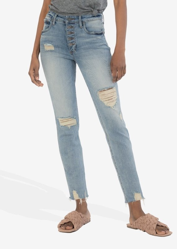 KUT From The Kloth Rachel High Rise Fab Ab Mom Jean  Enchanted 