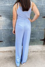 509 Broadway Cami Woven Jumpsuit  With Tie