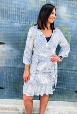 509 Broadway Paisley Printed Mini Dress