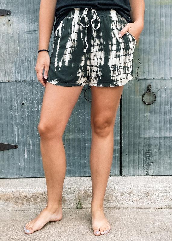 509 Broadway Woven Tie Dye Shorts