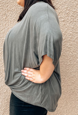 Plus size Tucked Front Knit Top