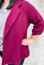 509 Broadway Plus Size Woven Blazer