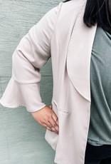 Plus Size Pleated Cuff Blazer