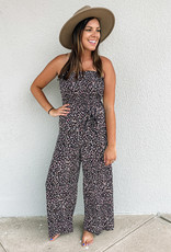 509 Broadway Woven Printed Strapless Jumpsuit