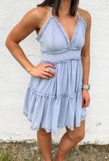 509 Broadway Woven Tiered Ruffle Detail Cami Dress