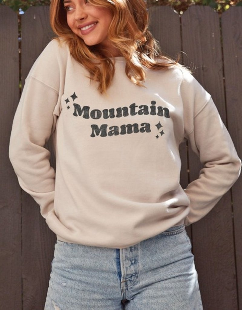 509 Broadway Mountain Mama Graphic Pullover